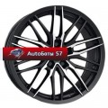 Диски Alutec Burnside Diamant black front polished 7,5x17/5x100 ЕТ35 D57,06