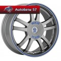 Диски Sparco Rally Matt Silver Tech blue lip 7x16/4x108 ЕТ25 D73,1