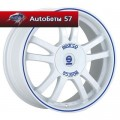 Диски Sparco Rally White + Blue Lip 6,5x15/4x108 ЕТ25 D73,1