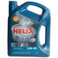 Моторное масло всесезонное полусинтетическое SHELL HELIX PLUS/HX7 10W-40 4L SHL-10W40P/HX7-4L