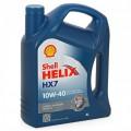 SHELL Масло моторное Helix HX7 10w40 (4л) (ПолуСинтетика)